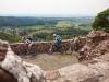 Auf der Burgruine Hohnstein