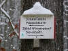 Wegweiser am Poppenberg