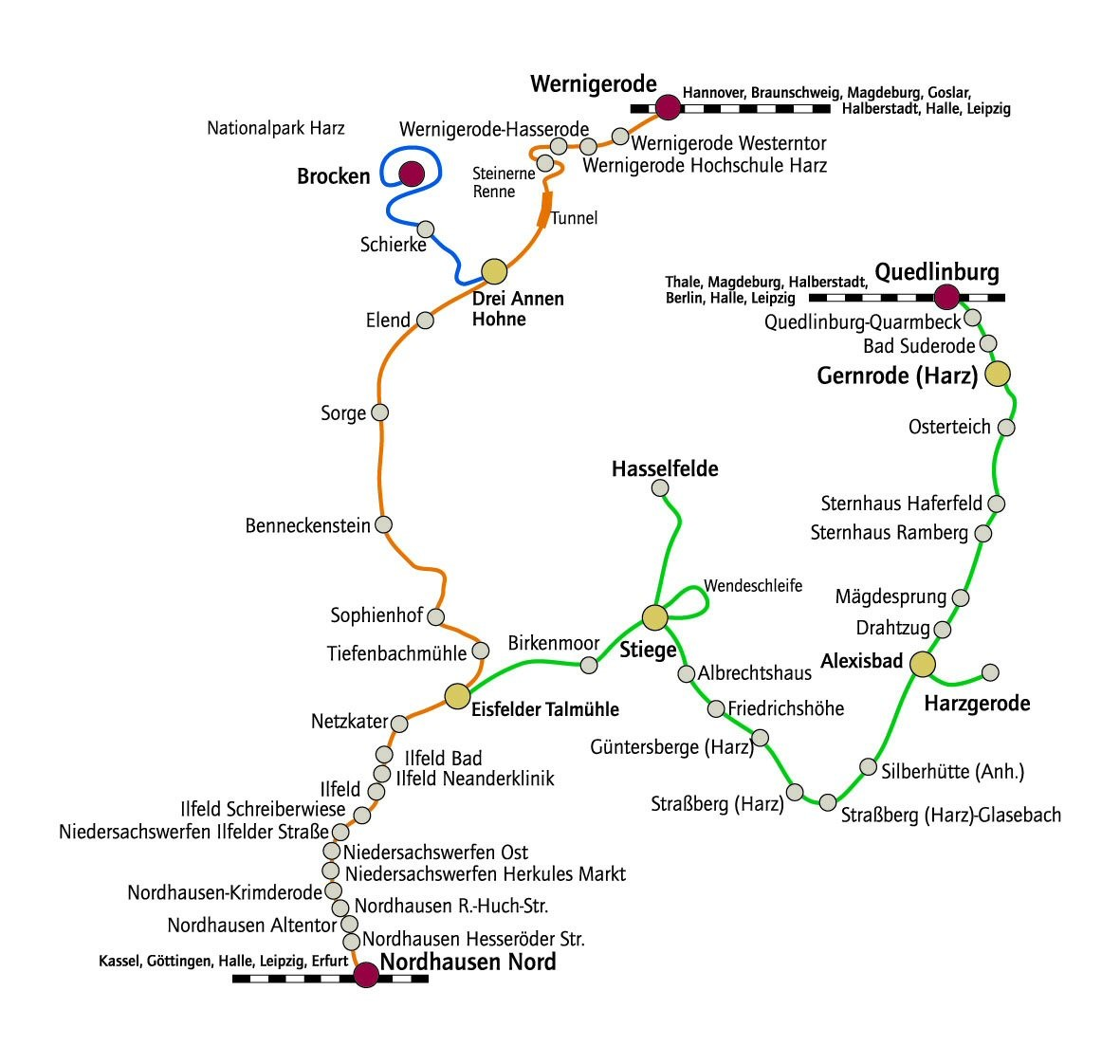 Nordhausen Karte.Karte Anfahrt Naturpark Südharz