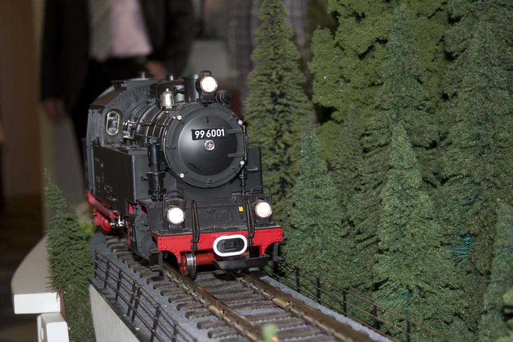 Modellbahn im Dampfladen Foto: SHTV/Christian Schelauske
