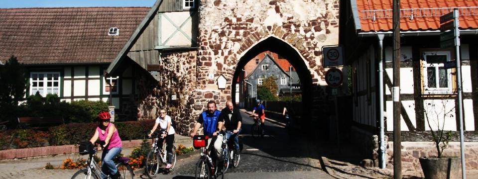 Radfahrer am Neustädter Tor
