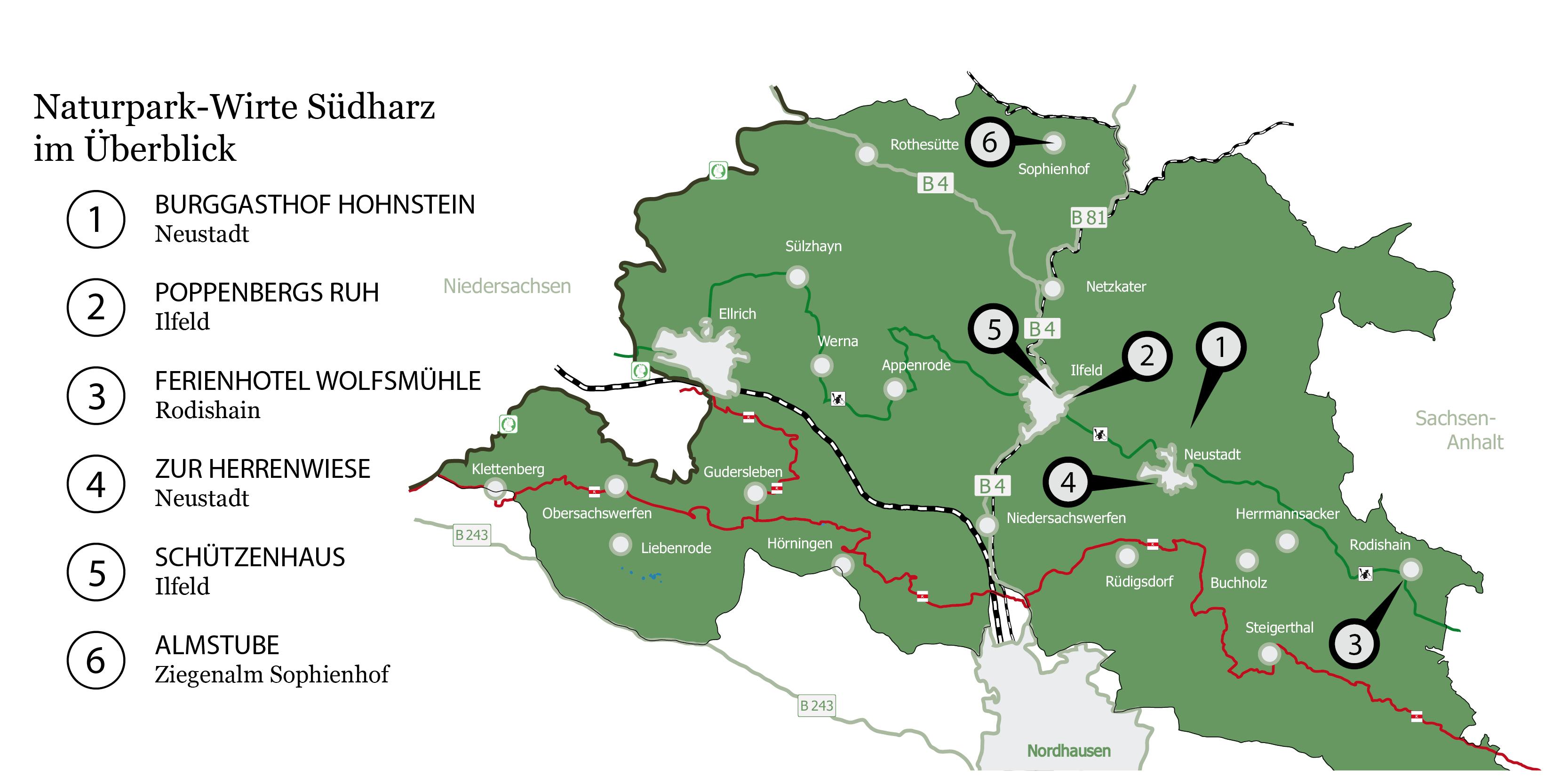 Naturpark Menüs Wirte